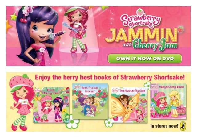 strawberry shortcake dvd and book giveaway