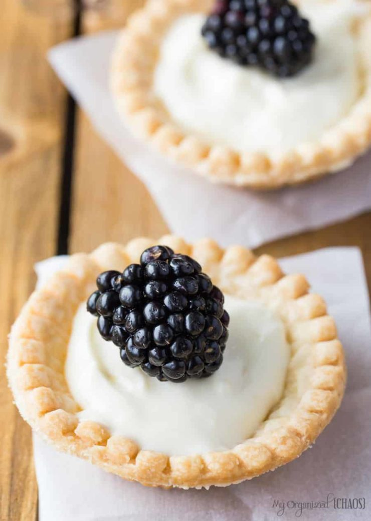 cream cheese tarts with summer fruit recipe