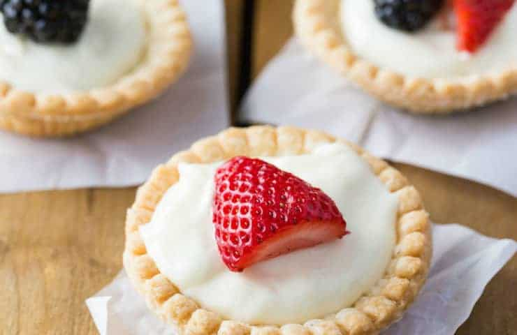 Cream Cheese Tarts Topped with Fruit