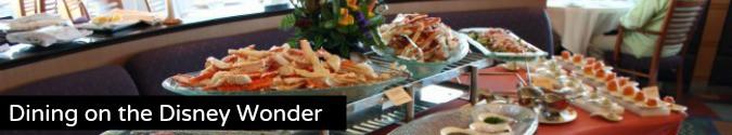 Food Dining on the Disney Wonder