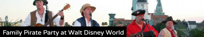 Family Pirate Party Walt Disney World