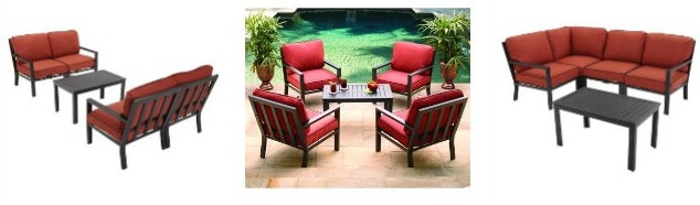HAMPTON BAY Westbury 4-Person Adjustable Conversation Set