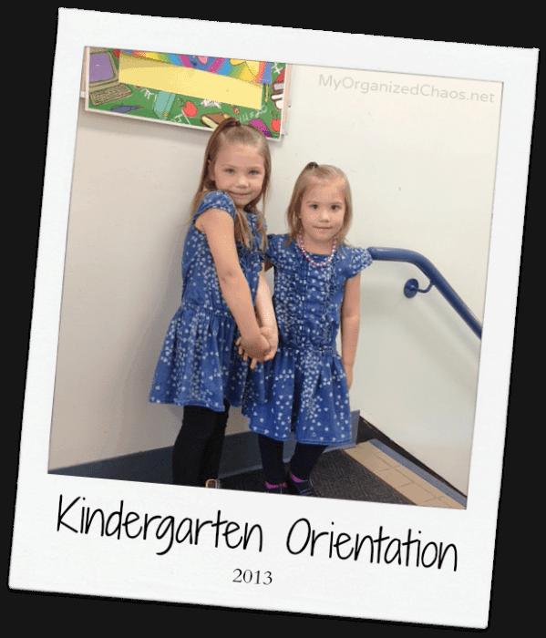 Kindergarten Orientation Twins