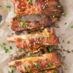 Thick, rich BBQ taste that you can't help but get all over the face. Winter or Summer, no one can resist Fall Off The Bone Ribs, beer barbecue style!