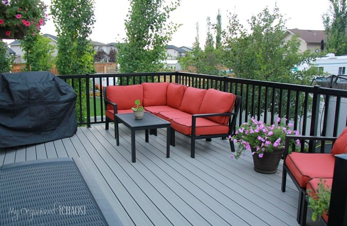backyard renovation new deck alberta home depot