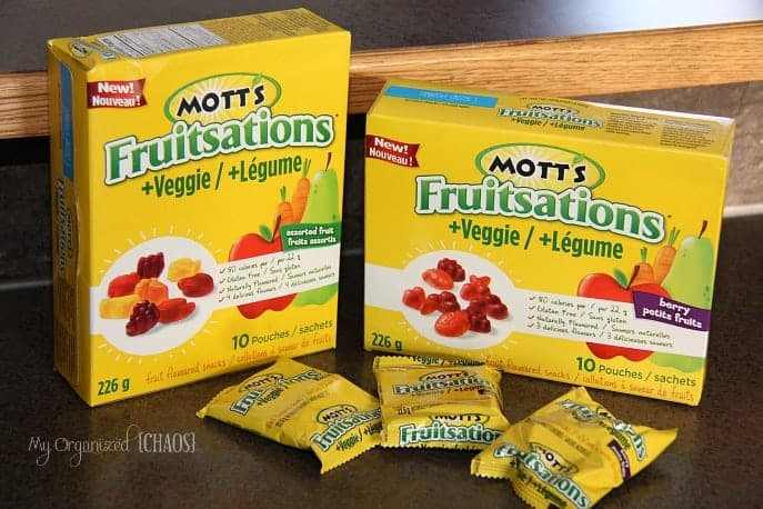 New Motts Fruitsations veggie