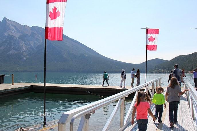banff lake cruise family travel