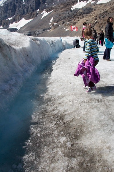 glacier water columbia icefields jasper banff