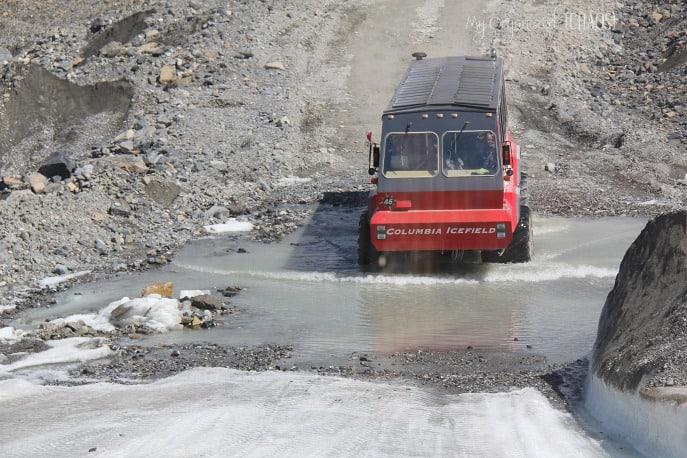 ice explorers Columbia Icefield Glacier Adventure family travel myorganizedchaos