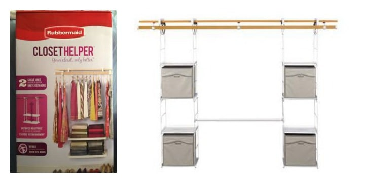 rubbermaid closet helper home depot canada storage organization