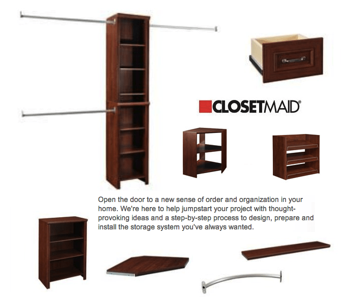 closetmaid products the home depot