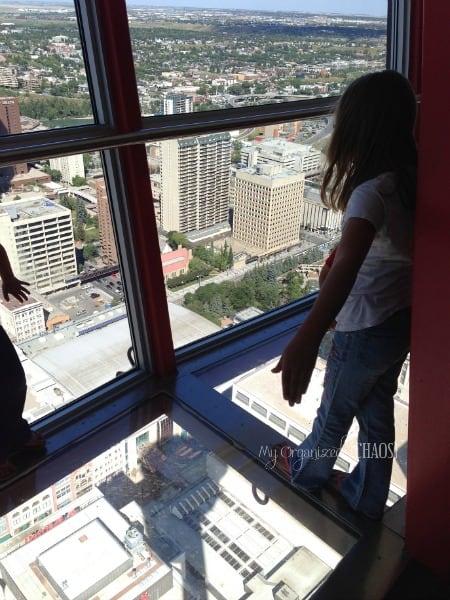 glass floor calgary tower family travel