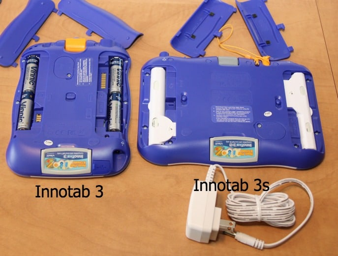innotab 3 and 3s battery power