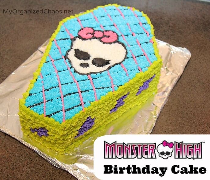 monster high birthday cake myorganizedchaos