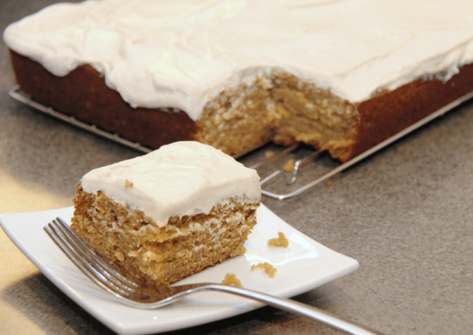 pumnpkin cake with cream cheese icing recipe