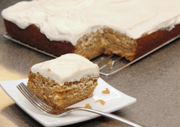 pumnpkin cake with cream cheese icing recipe