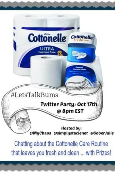 We need to talk – Cottonelle #LetsTalkBums Twitter Party