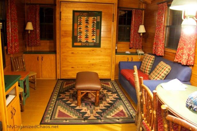 disney fort wilderness cabins living room