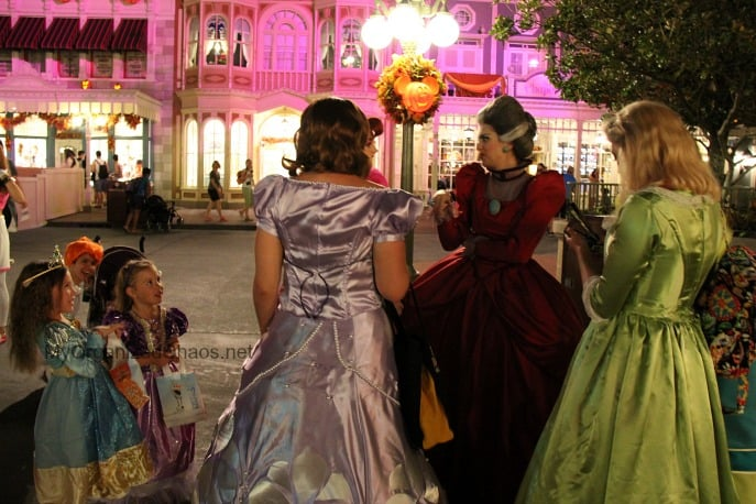 evil stepsisters disney world halloween party