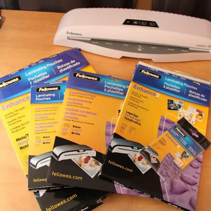 fellowes cosmic 125 laminator holiday projects