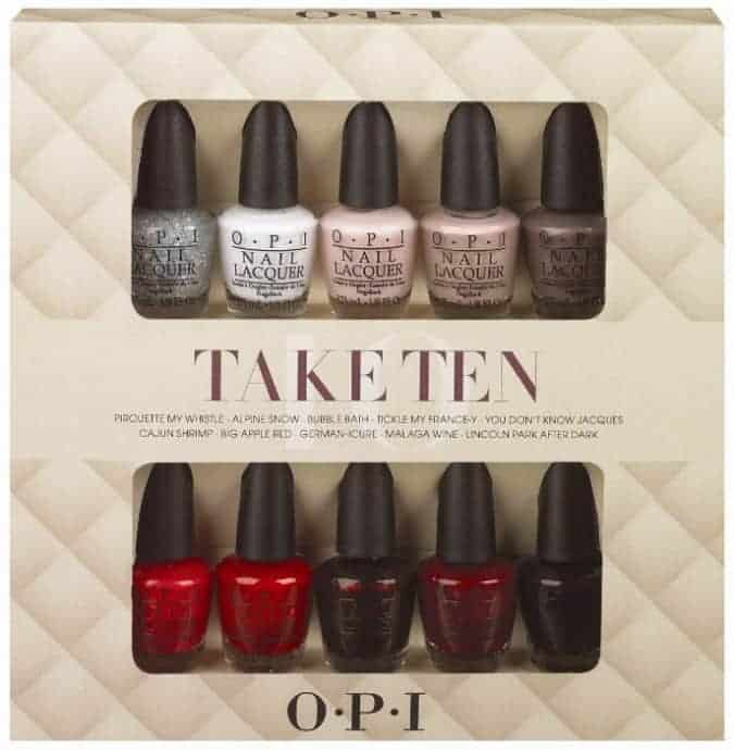 take ten opi holiday 2013 giveaway
