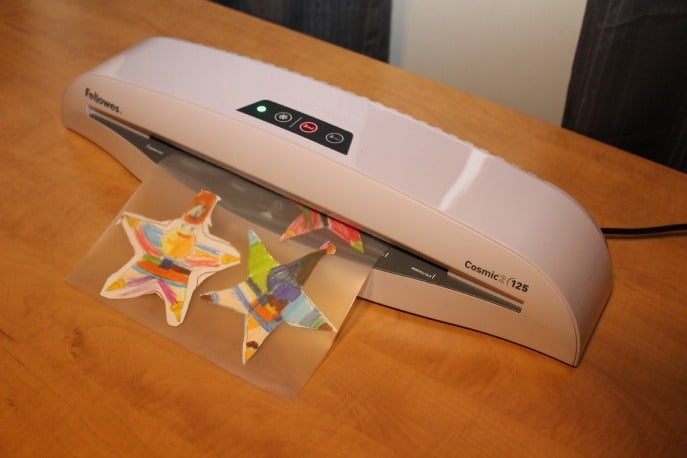DIY ornaments fellowes laminator