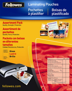 Fellowes 25pk Assorted Laminating Pouches