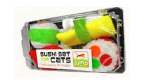 Jump Sushi Box with Cat Nip