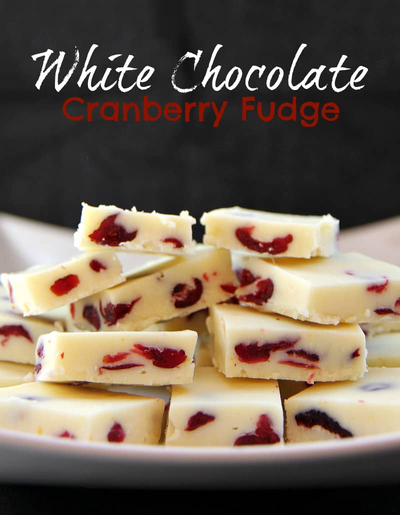 This White Chocolate Cranberry Fudge is HEAVEN! I could easily coin this the best chocolate fudge ever, great for holiday baking and exchanges