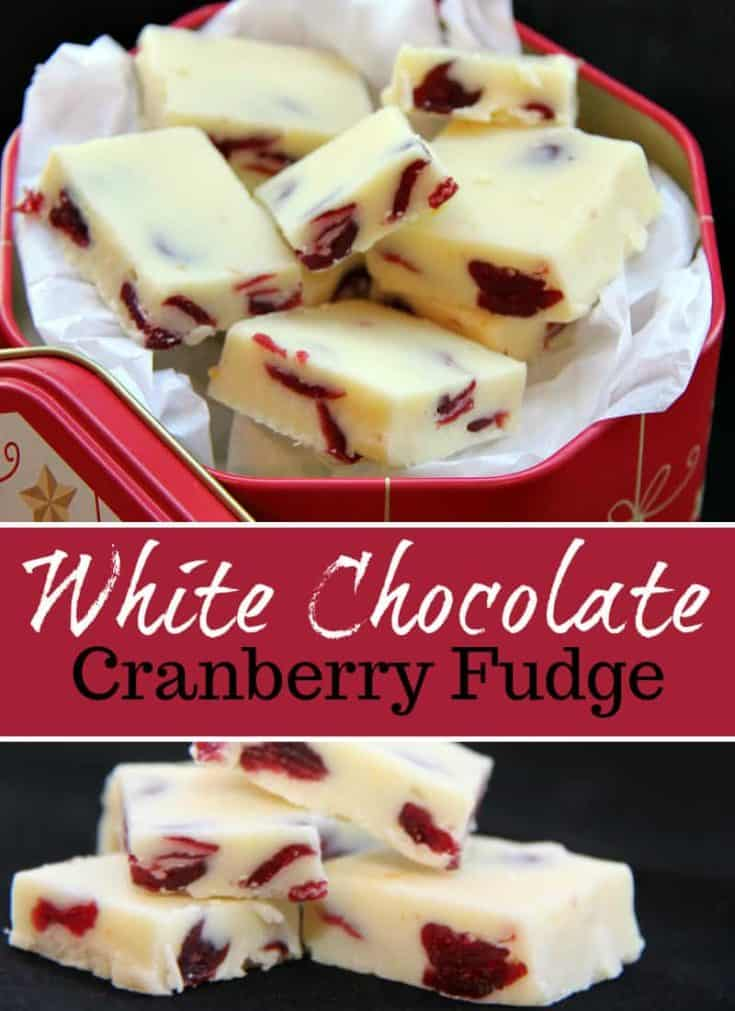 This White Chocolate Cranberry Fudge is HEAVEN! I could easily coin this the best chocolate fudge ever, great for holiday baking and exchanges. #fudge #holidaybaking #christmas #dessert
