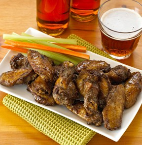homey garlic chicken wings