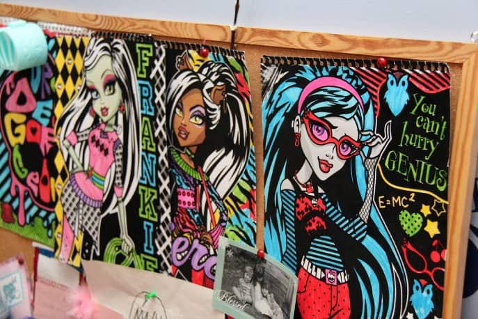 monster high colouring sheets