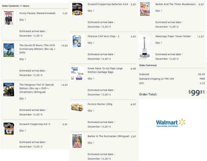 Wal-mart online shopping