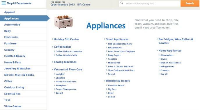 Walmart canada online shopping website