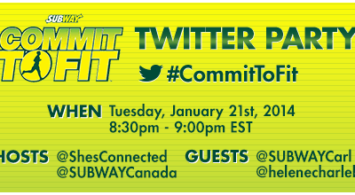Subway Canada #Committofit Twitter Party