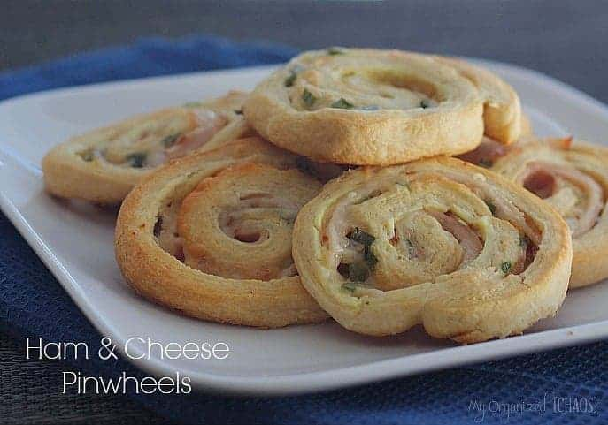 Ham, Cheese & Chive Crescent Pinwheels Sumptuous Spoonfuls
