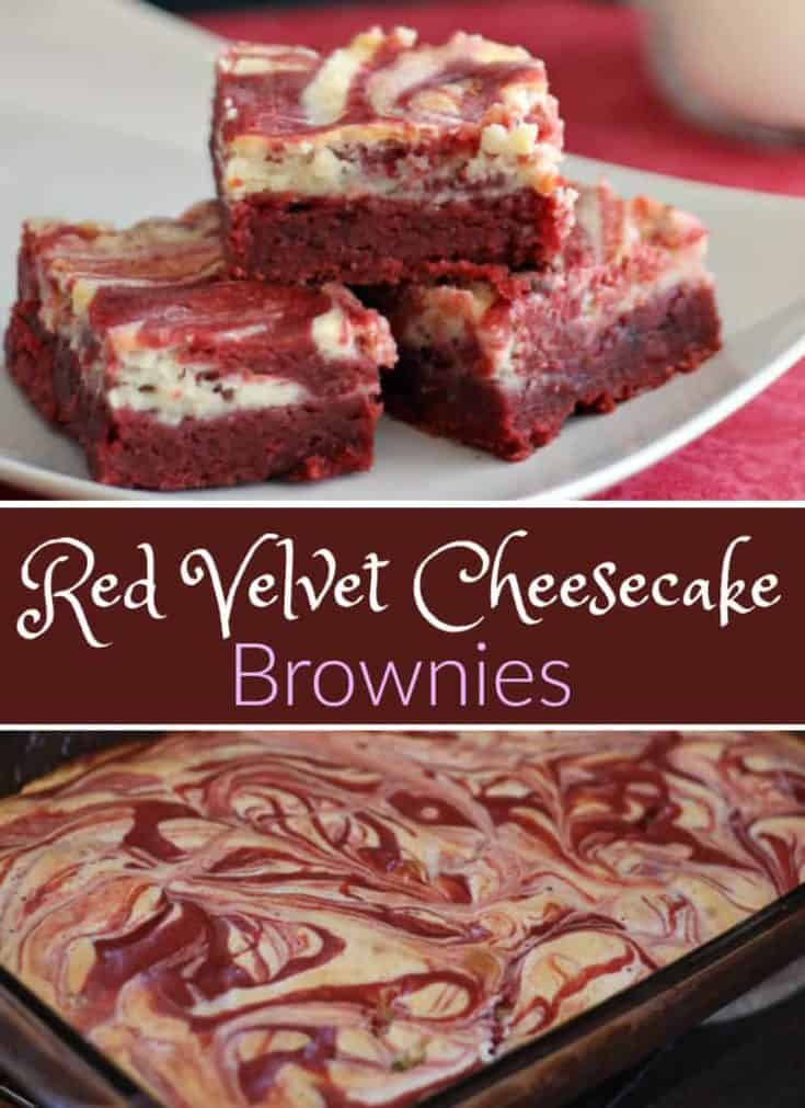 These Red Velvet Cheesecake Brownies are the best moist brownies for Valentine's Day and easy to make too. Simply delicious! #redvelvet #brownies #valentinesday