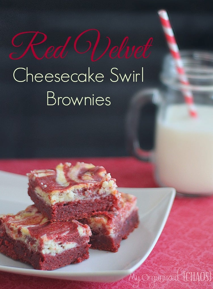 Red Velvet Cheesecake Swirl Brownies Using Cake Mix