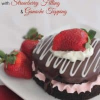 Strawberry filled Chocolate Cake with Ganache Topping