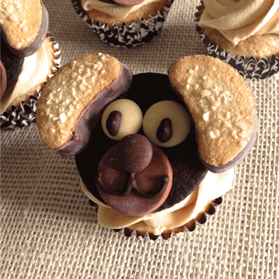 Puppy-Decorated-Cupcakes