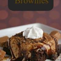 Iced Caramel Brownies