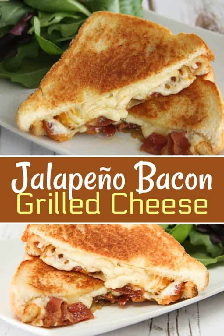 Jalapeño Bacon Grilled Cheese recipe is a grilled cheese with Bacon and Jalapeño cheese and spices to make this the ultimate grilled cheese sandwich! #grilledcheese #sandwich