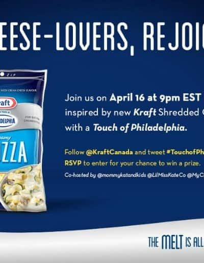 Join the #TouchofPhillyCheese Twitter Party with @KraftCanada