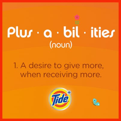 Giving Back with Tide – Discover the #Plusabilities
