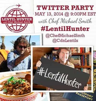 Come to the ‪#‎LentilHunter‬ Twitter Party with Chef Micheal Smith!