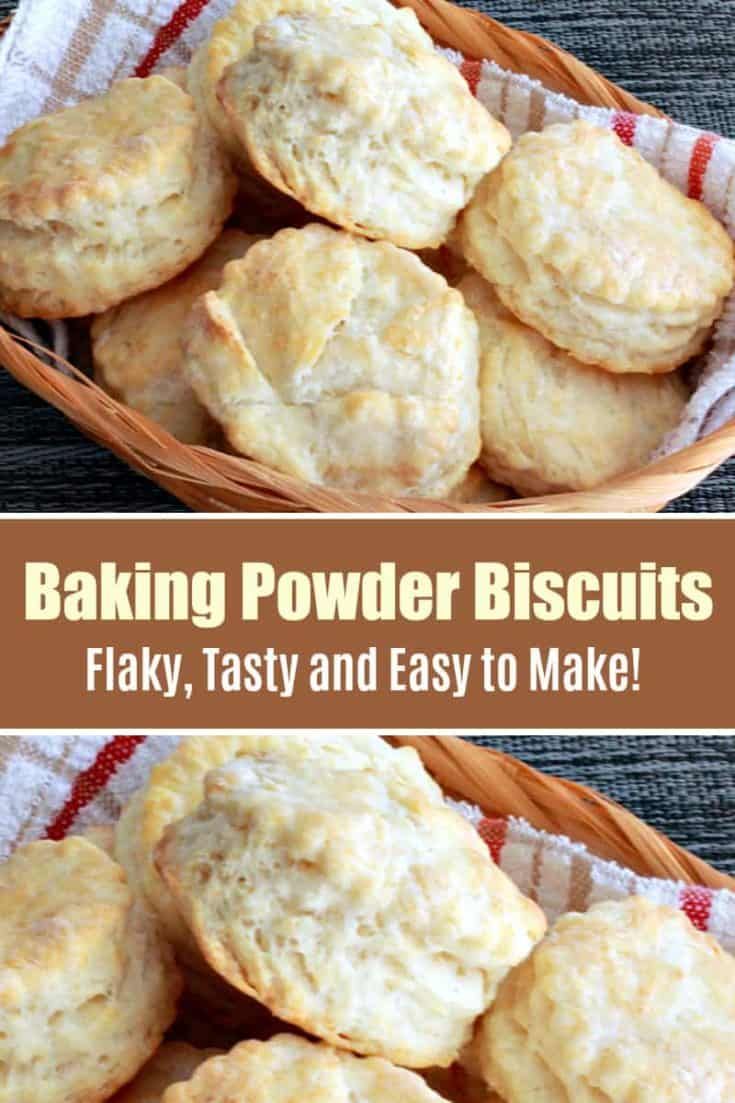 A classic no-fail recipe to make flaky and buttery Easy Baking Powder Biscuits, passed down from generation to generation. This is the best biscuit recipe! #biscuits #easybiscuits #biscuitsrecipe