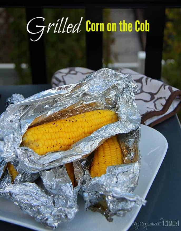 grilled corn on the cob for the very first time AND it was flavoured ...