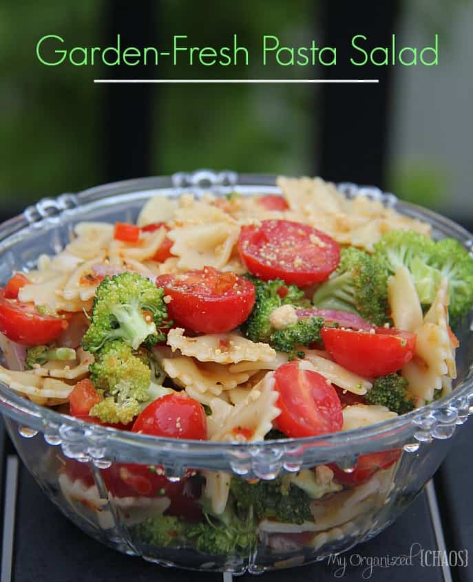 Garden-Fresh Pasta Salad - My Organized Chaos