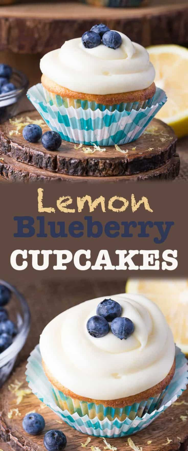 Blueberry Lemon Cupcakes are moist and fluffy cake with delicious cream cheese icing, it's the perfect dessert recipe to celebrate summer and use those fresh berries. #cupcakes #cupcakerecipes #recipes #easyrecipes #yummyrecipes