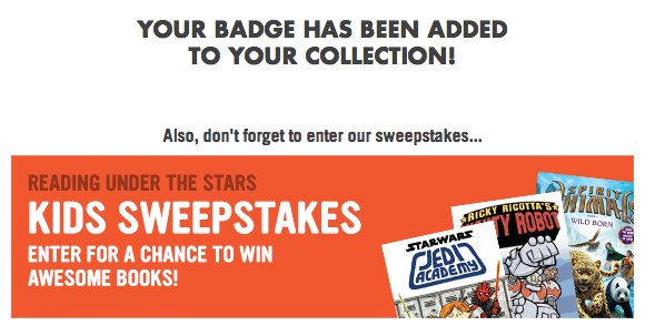 sweepstakes scholastic summer reading program